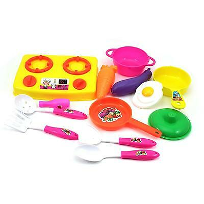 Developmental Toy Kid Kitchen Cooking Tool Pretend Role Playing Toy 13pcs/Set