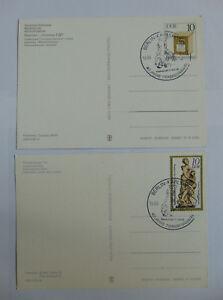 DDR 2 Berlin Postkarten SST 40 Jahre Trabrennbahn Karlshorst 1985 Mi 2924 2905 I