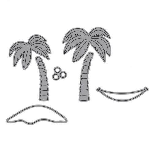 Palm Baum Metall Stencil Cutting Dies Scrapbooking Stanzschablone Karte Dekor