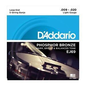100% De Qualité 3 Pack! D'addario Ej69 Phosphor Bronze Loop End Guitar Strings ships Free U.s.