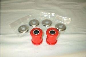 Handlebar-Riser-Bushings-Red-Polyurethane-Harley-Softail-Dyna-Sportster-Chopper