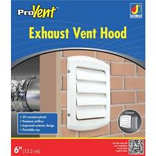 """6"""" White Louvered Clothes Dryer Bathroom Kitchen Exhaust Vent Hood BLH6WZW"""