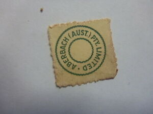 OLD-SMALL-MUSIC-LABEL-COPYRIGHT-ROYALTY-STAMP-ABERBACH