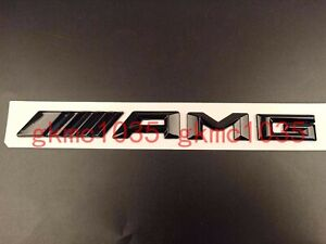 Gloss Black ABS Letters Trunk Badge Emblem Sticker for Mercedes Benz C63 S AMG