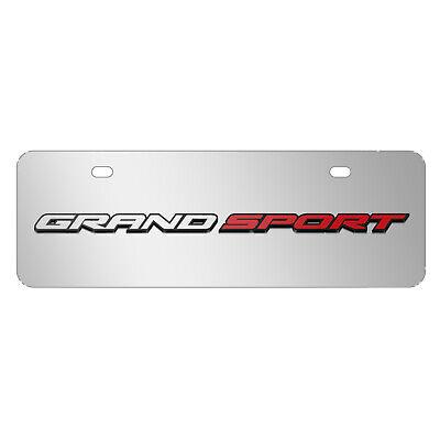 Chevrolet Corvette C7 Stingray 3D Chrome Half-Size Stainless Steel License Plate