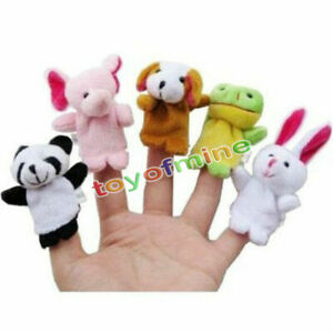 5x-Bebe-Nino-Zoo-Granja-Animal-Marioneta-Dedo-Peluche-Felpa-Juguetes-Educativos
