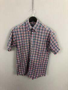 GANT-POPLIN-Short-Sleeve-Shirt-Size-Medium-Check-Great-Condition-Men-s