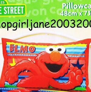 Image Is Loading Elmo Sesame Street Stars Amp Stripes Polyester Cotton