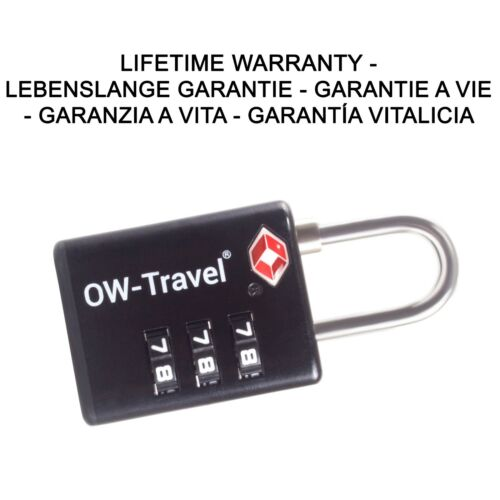 ✅ TITAN 3-Cadran TSA combinaison code Cadenas avec recherche Alerte Valise Bagage