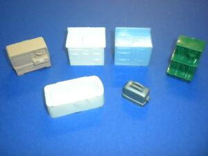 DOLLHOUSE-FURNITURE-6-pieces-vintage-plastic-1950-039-s-1960-039-s-lot-7-Marx-Allied
