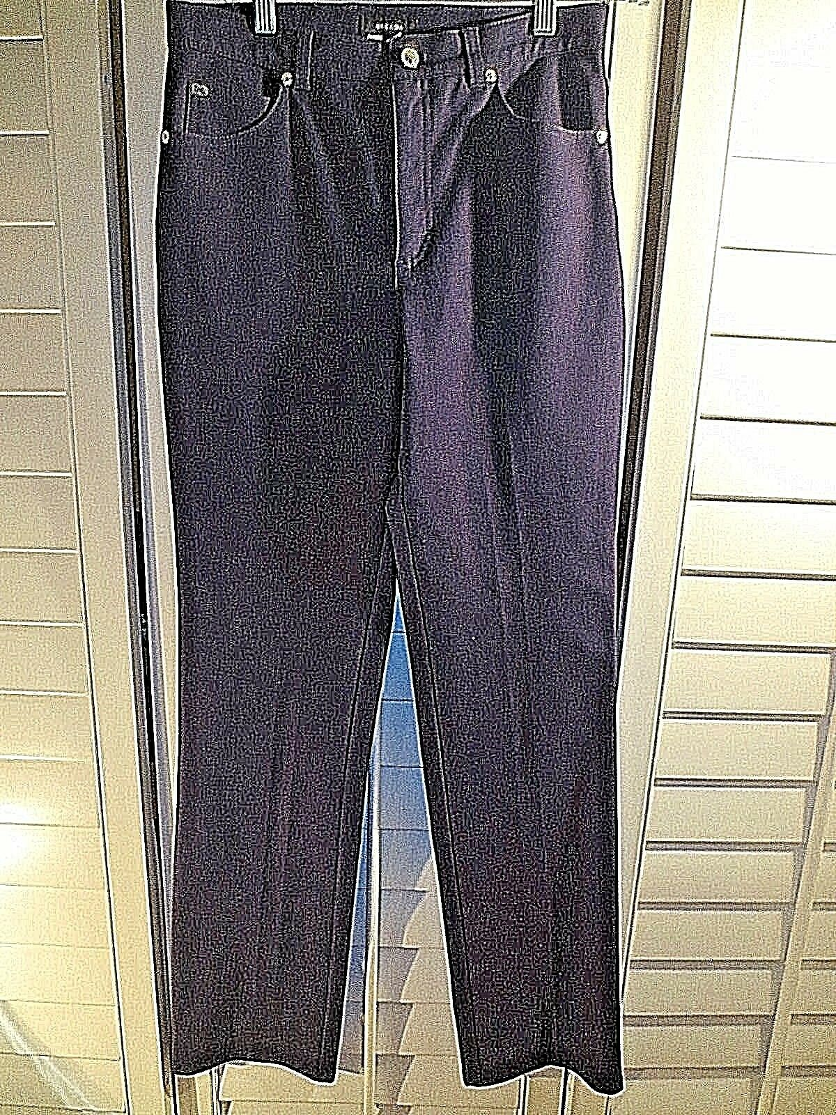 Escada Womens NAVY Straight Jeans Sz 38 US 6  Cotton Trouser Pants