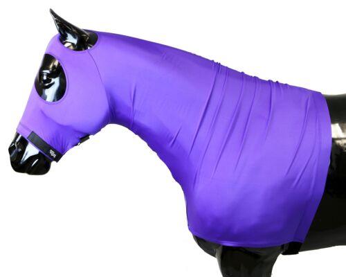SLEAZY Sleepwear pour chevaux véritable stretch capuche violet moyen complet avec fermeture éclair