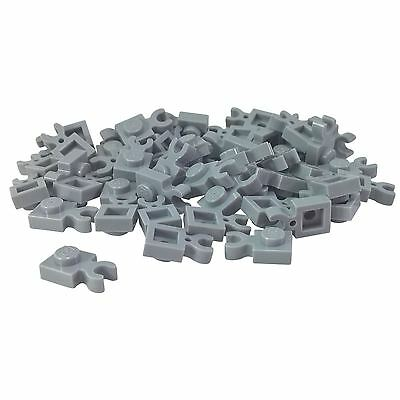Lego 50 New Dark Bluish Gray Bricks Modified 1 x 1 with Clip Vertical Pieces