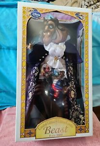 """NEW Disney Store Limited Edition Beast Doll Beauty and the Beast 17"""" LE"""