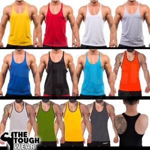 Gym-Stringer-Men-039-s-Tank-Top-for-Bodybuilding-and-Fitness-Stringer-Sports