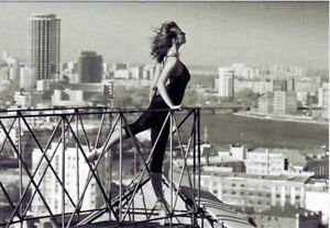 Ballerina-on-the-roof-and-she-is-longing-to-fly-Modern-Russian-postcard