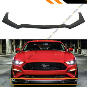FOR 2018-2019 MUSTANG GT PERFORMANCE PACK STYLE ADD-ON FRONT BUMPER LIP SPLITTER | eBay