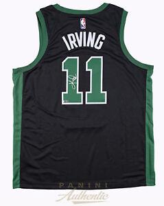 0b302d062ac1 Image is loading KYRIE-IRVING-Autographed-Boston-Celtics-Black-Nike-Jersey-