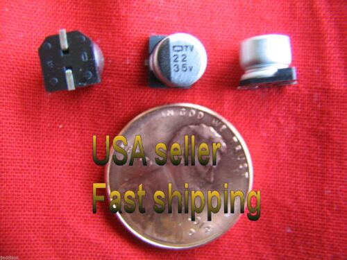 22uf  35v   Nippon Chemi-Con  SMD  electrolytic capacitors 25 pcs