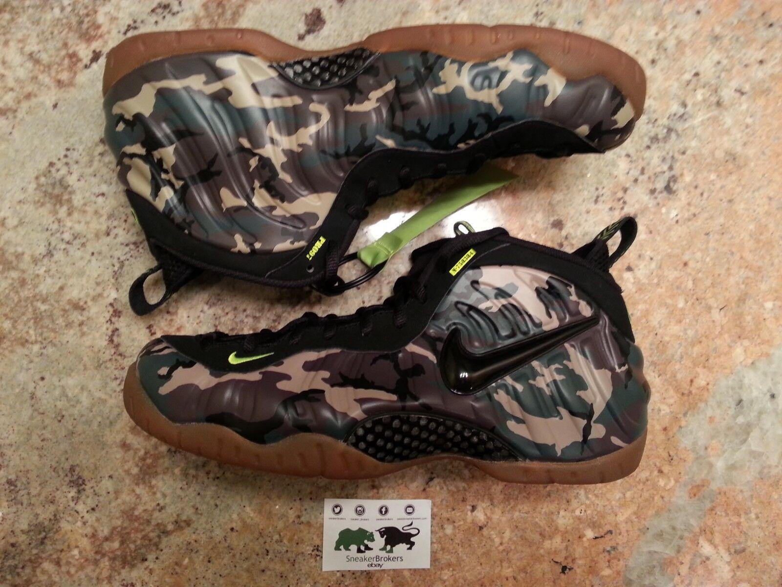 Nike Air Foamposite Pro le cómodo Army Camo cómodo le confortable y atractivo 84e511