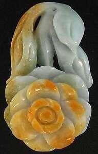 Natural-Amarillo-Jadeita-Jade-Suelto-Tallado-Flor