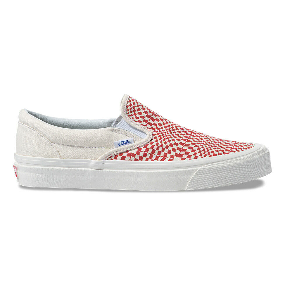 New Vans SLIP-ON 98 DX SS19 Anaheim Factory Pack Unisex Sneakers - OG Red