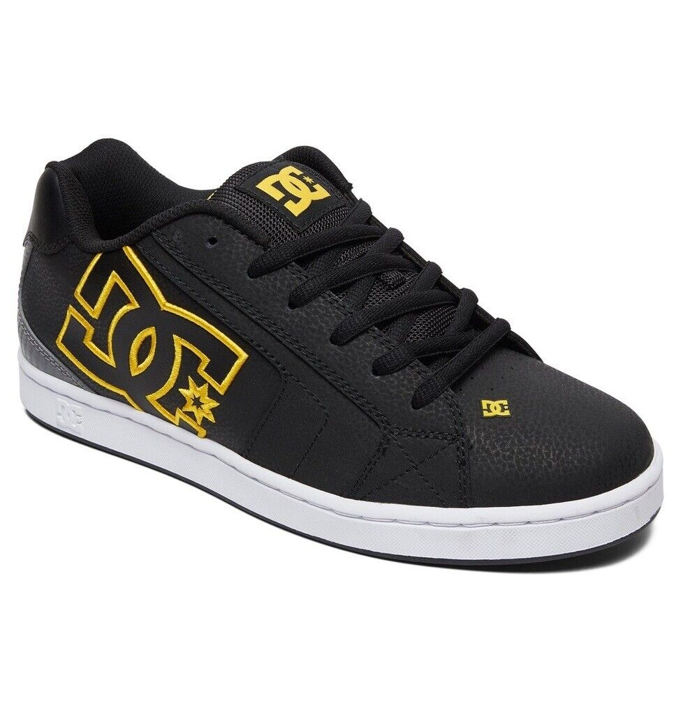 DC SHOES NET BLACK gold MEN'S TRAINERS