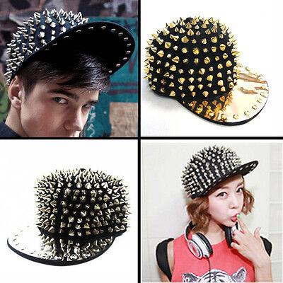 Gothic Hedgehog Punk Rock Baseball Hiphop Hat Studded Spike Rivet Spiky Stud Cap