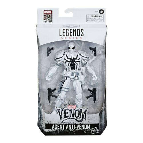 Marvel leggende agente anti Venom 80 anni esclusivo figura 6 POLLICI-NUOVO E NUOVO IN SCATOLA SIGILLATA