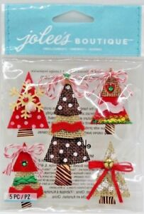 HOLIDAY WORD TREES Christmas JOLEE/'S BOUTIQUE STICKERS