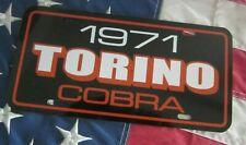 1971 Ford Torino Cobra License Plate Car Tag 71 Super Cobra Jet 429 Orange