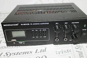 Monacor-PA-802USB-mixer-amplifier-with-integral-MP3-player-Rack-mountable