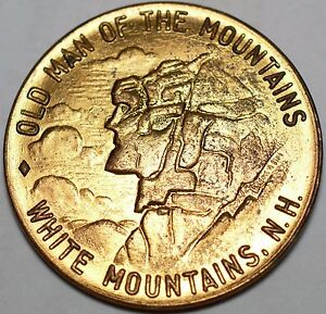 OLD MAN OF THE MOUNTAINS WHITE MOUNTAINS, NH FLUME GORGE FRANCONIA NOTCH MEDAL