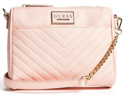 NWT GUESS MARABELLA HANDBAG Blush Pink Logo Crossbody Shoulder Bag GENUINE
