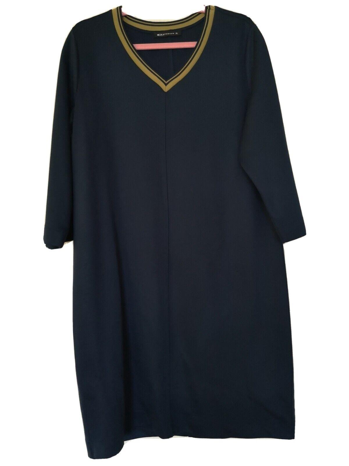 EXPRESSO Kleid Damen Dress Damenkleid Gr. XL Viskose Gemisch blau