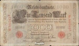 German-Empire-Rosenbg-39-Red-Seal-used-III-1909-1-000-Mark-8983853