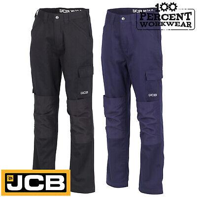 100% Vero Jcb Abbigliamento Da Lavoro Pantaloni Cargo Combat Essenziali Pantaloni In Policotone Ginocchio Pad Tasche-mostra Il Titolo Originale