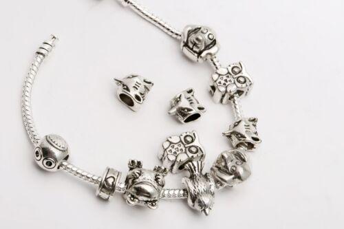 100pcs Ensemble Mélange Tibet /& Argent Espaceur pour la fabrication de bijoux/&/&