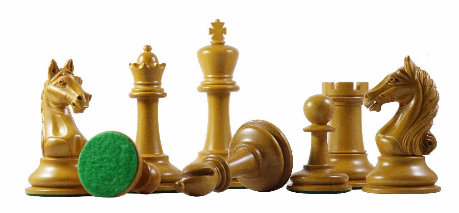 Antique Warrior Premium Staunton 4  ébène et Ancien Boîte Bois Pièces d'échecs