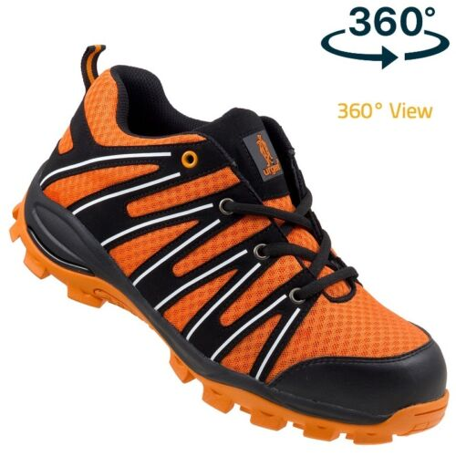 Urgent Lightweight Safety Shoes WORK BOOTS STEEL TOE CAP 262 S1 360º View