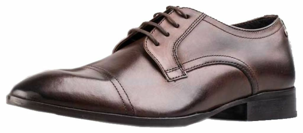 Base London Christie Cocoa Leather hommess Formal chaussures