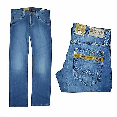 Coraggioso Mustang Cooper Pantaloni Jeans Uomo Slim Fit Low Rise Tg. W30, W31 Lunghezza: L34 Nuovo-mostra Il Titolo Originale Alta Qualità E Poco Costoso