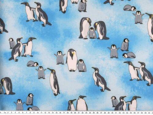 pingüinos azul Sweat-presión parte posterior flausch 150cm