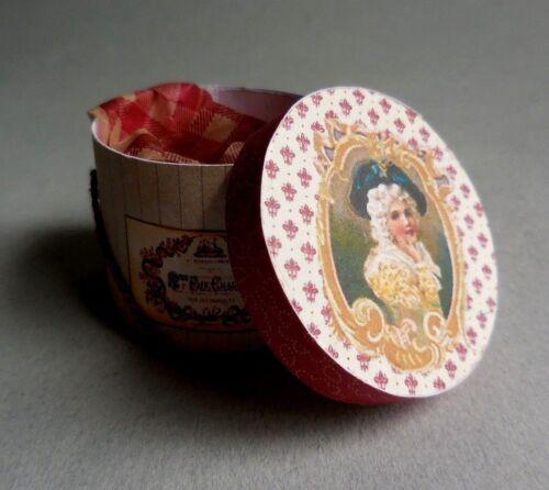 DOLLHOUSE MINIATURE ~ FASHION LADY/'S  HAT BOX  by LORRAINE SCUDERI