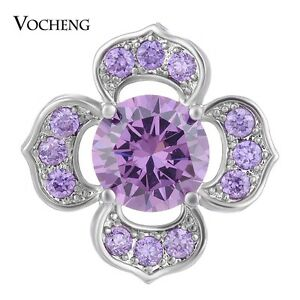 Vocheng CZ Stone Snap Charms 18mm 4 Colors Star Copper Jewelry Vn-1411