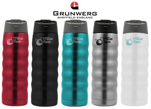 Grunwerg Pioneer 480ml Double Walled Vacuum Travel Flasks in Various Colours