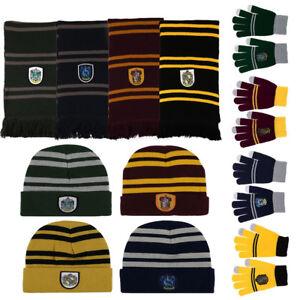 Image is loading Harry-Potter-Hat-Scarf-Gloves-SET-Gryffindor-Slytherin- e506f59d2e5