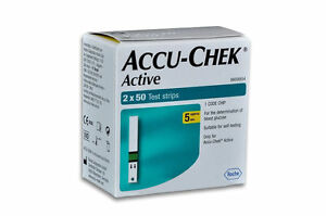 Accu-Chek Active 100 (50*2 ) Test Strips Exp Date - 03/2018.