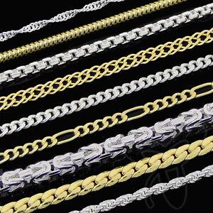 ECHTE 333 gelb GOLD KETTE oder 925 SILBER KETTE HERREN DAMEN ... 1d12d5bf99