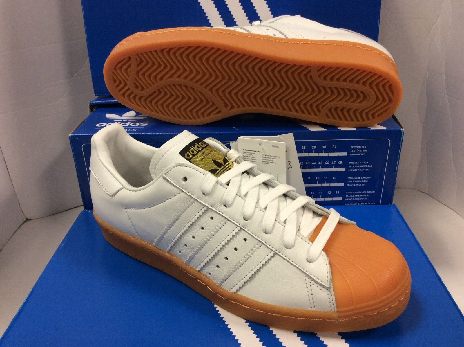 finest selection 2acf9 06f76 ADIDAS Originals Hommes Superstar 80s DLX S75830 Hommes Originals Trainers,  0ef2b8